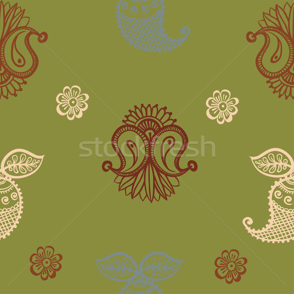 Foto d'archivio: Etnica · indian · ornamento · flora · pattern