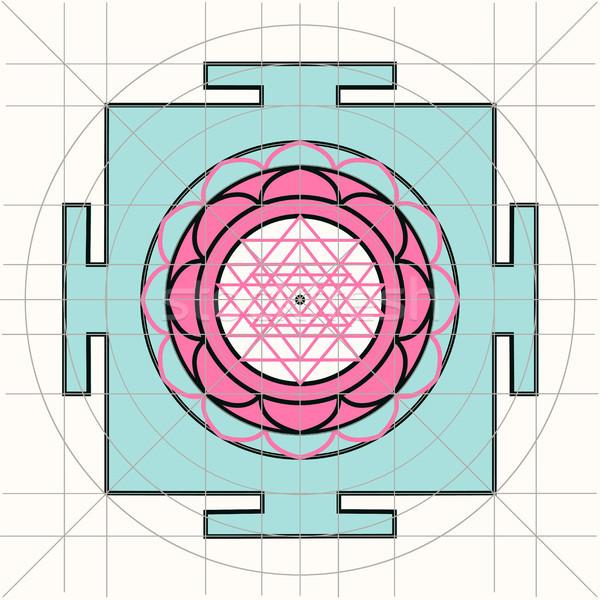 Sree Yantra. Sacred Geometry Stock photo © Mamziolzi