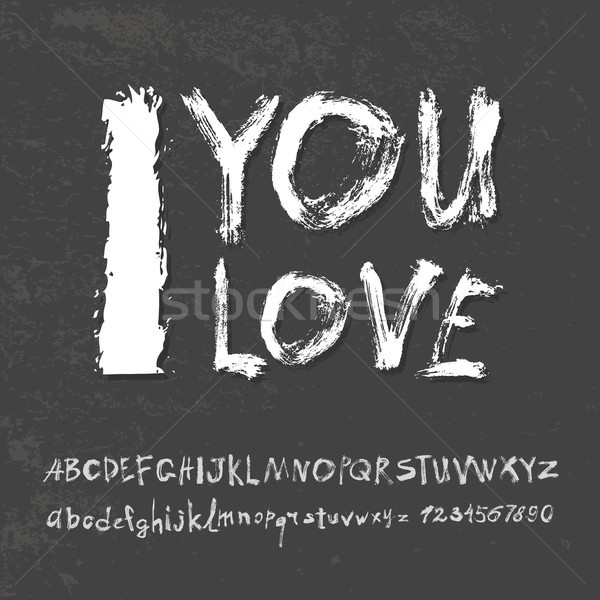 Ilove you hand lettering Stock photo © Mamziolzi