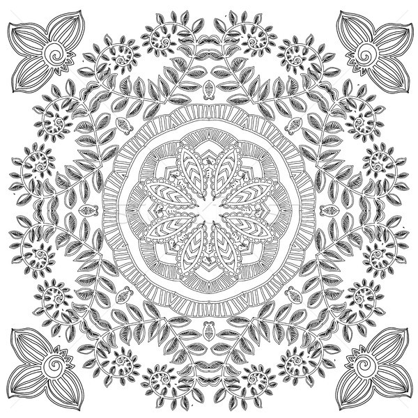 Pattern for coloring book. Stock photo © Mamziolzi