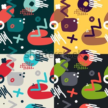 Modern hand draw abstract seamless pattern  Stock photo © Mamziolzi