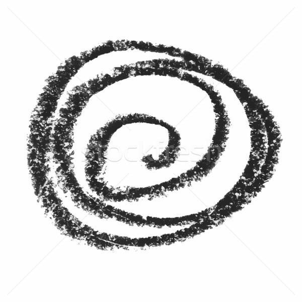 Stok fotoğraf: Siyah · balmumu · mum · boya · yalıtılmış · beyaz · ayarlamak