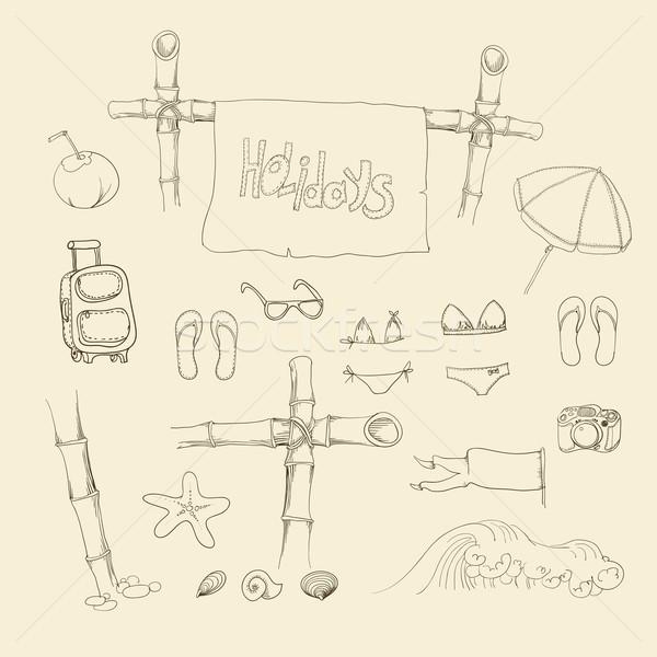 Summer holiday set  Vector illustration. Stock photo © Mamziolzi
