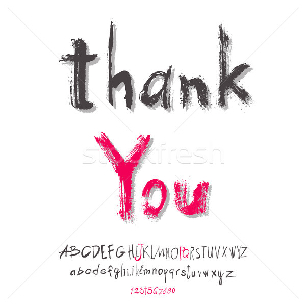 Thank you hand lettering Stock photo © Mamziolzi