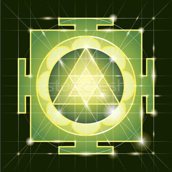 Sacré géométrie cosmique énergie corps fitness Photo stock © Mamziolzi