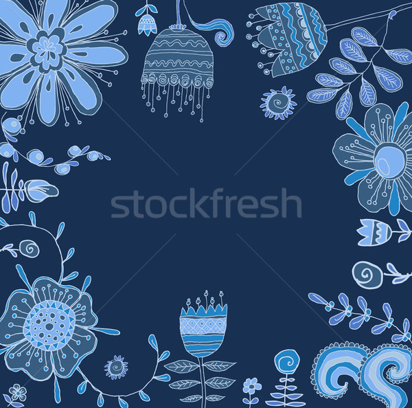 Set of floral graphic design elements Stock photo © Mamziolzi