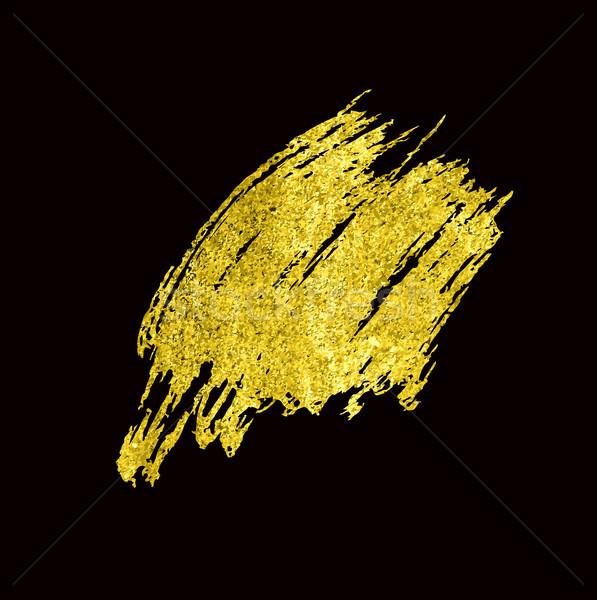 Gold Texture Hand drawn brush Stock photo © Mamziolzi