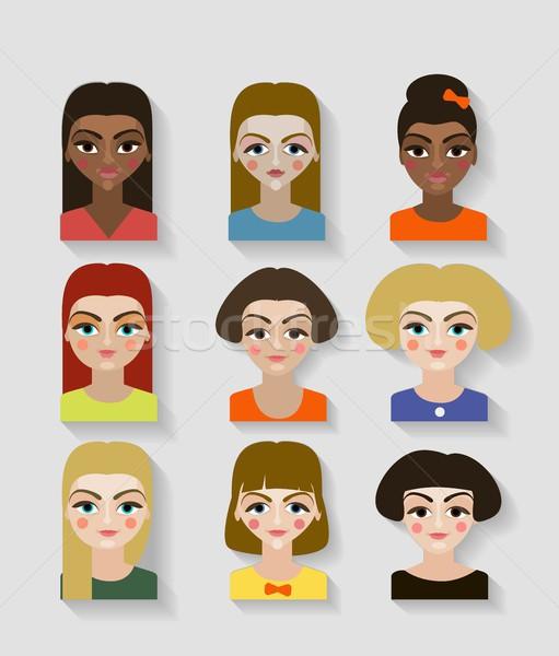 Piękna młodych dziewcząt różny fryzura Zdjęcia stock © Mamziolzi