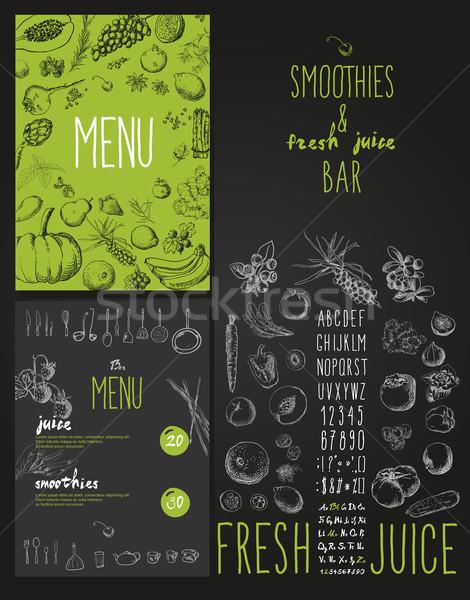 Fresche bar menu frutti verdura Foto d'archivio © Mamziolzi