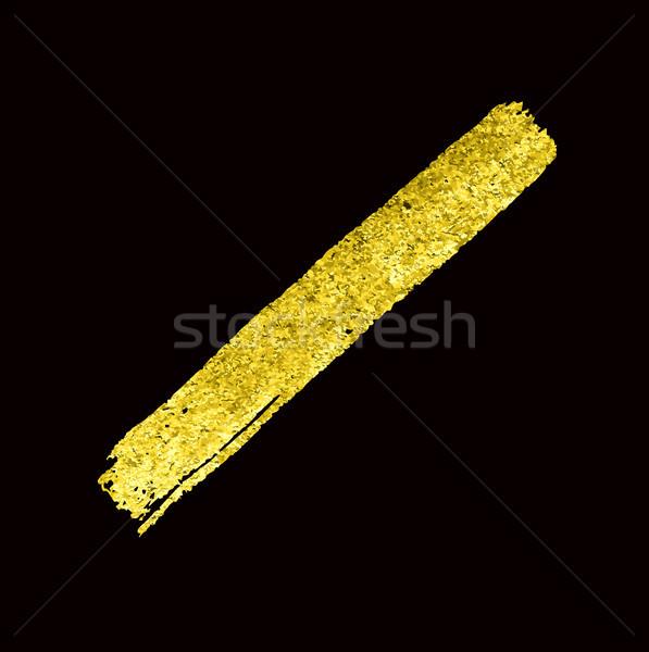 Tessitura oro pennello vettore texture Foto d'archivio © Mamziolzi