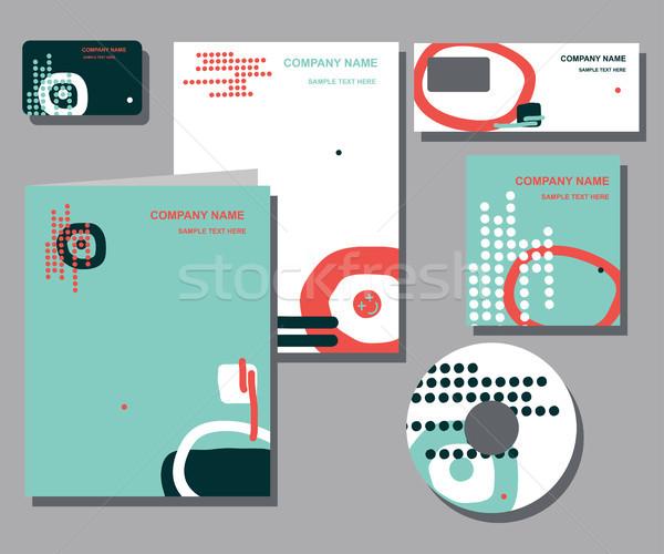 Empresarial identidad negocios establecer diseno resumen Foto stock © Mamziolzi
