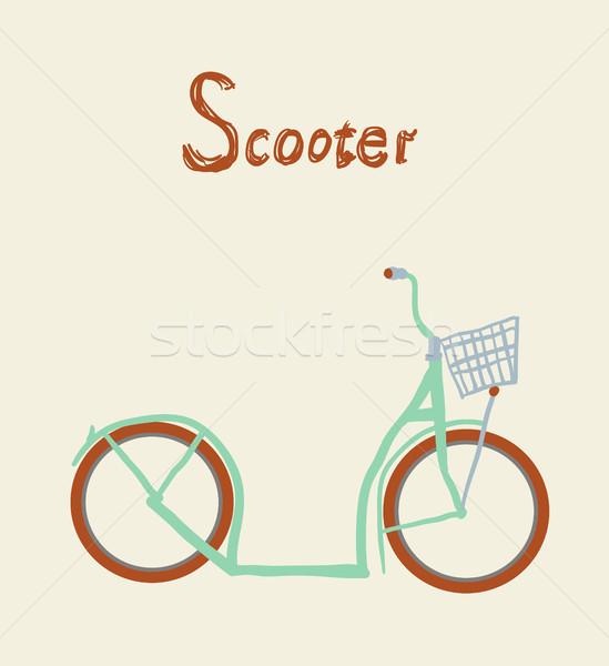 Vintage bicycle. Vector illustration. Stock photo © Mamziolzi