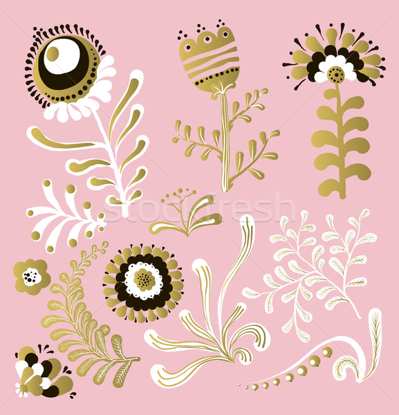 Grand floral design graphique graphique Photo stock © Mamziolzi