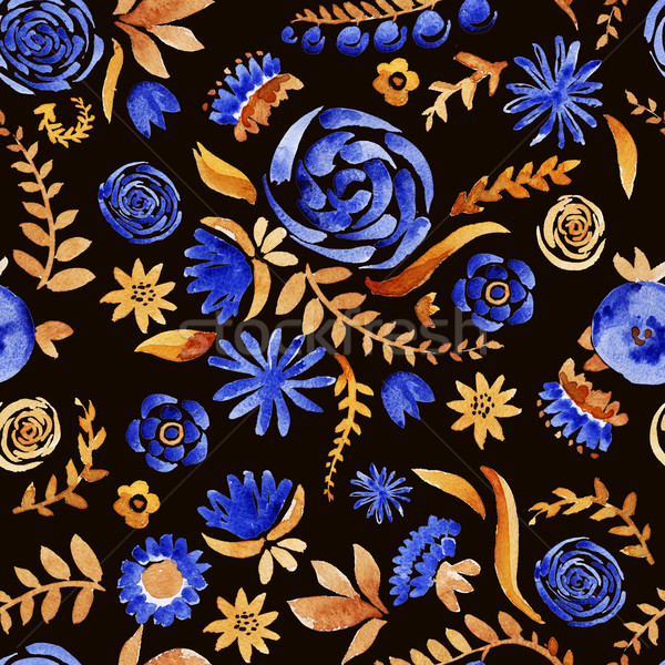 Bloemen aquarel patroon steeg Stockfoto © Mamziolzi