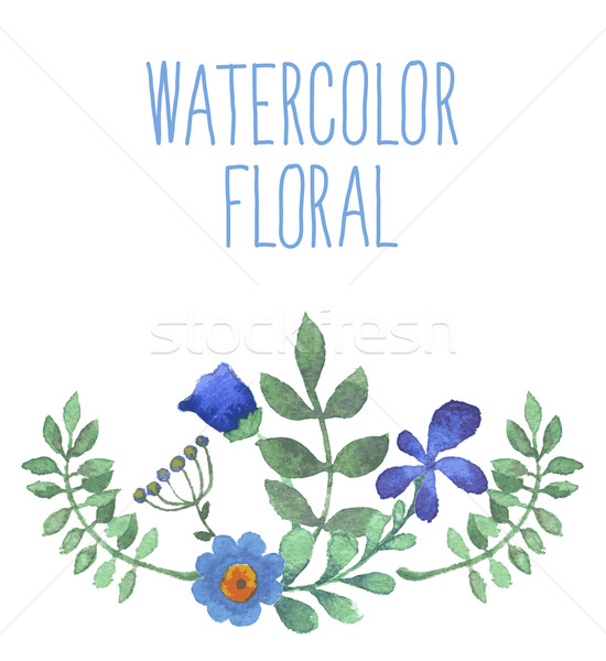 Watercolor floral bouquet.  Stock photo © Mamziolzi