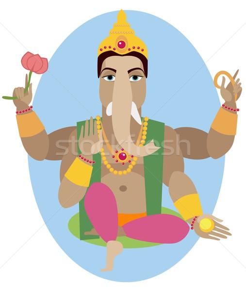 illustration of statue  Lord Ganesha   Stock photo © Mamziolzi