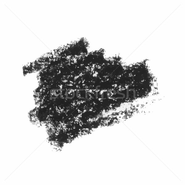 Black wax crayon strokes isolated on white. Stock photo © Mamziolzi