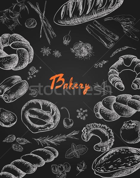 Bakery corporate identity. Bakery shop. set Stock photo © Mamziolzi