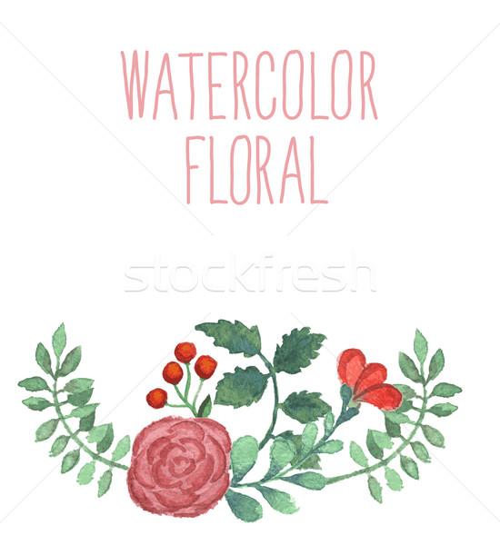 Watercolor floral bouquet.  Stock photo © Mamziolzi