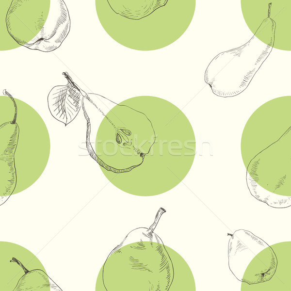 Stock photo: Seamless texture of a pear
