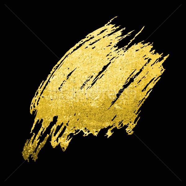 Tessitura oro pennello vettore carta Foto d'archivio © Mamziolzi