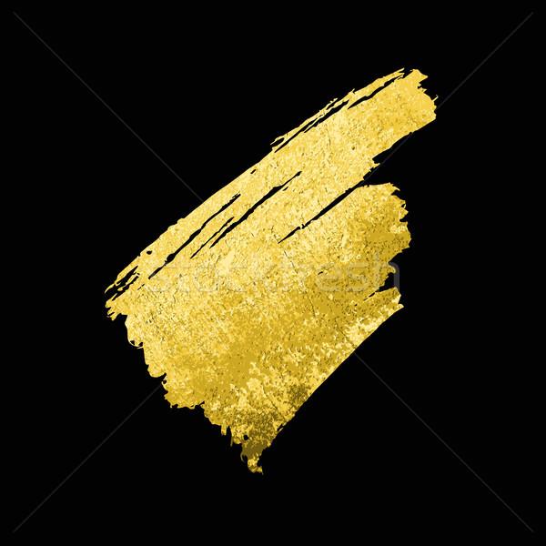 Altın doku fırçalamak vektör kâğıt Stok fotoğraf © Mamziolzi