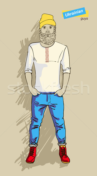 Ukrainian man in fashion Stock photo © Mamziolzi