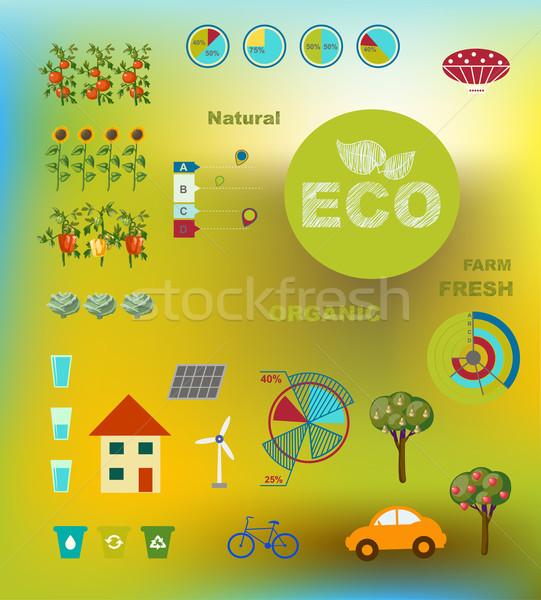 illustration of ecologically friendly infographics Stock photo © Mamziolzi