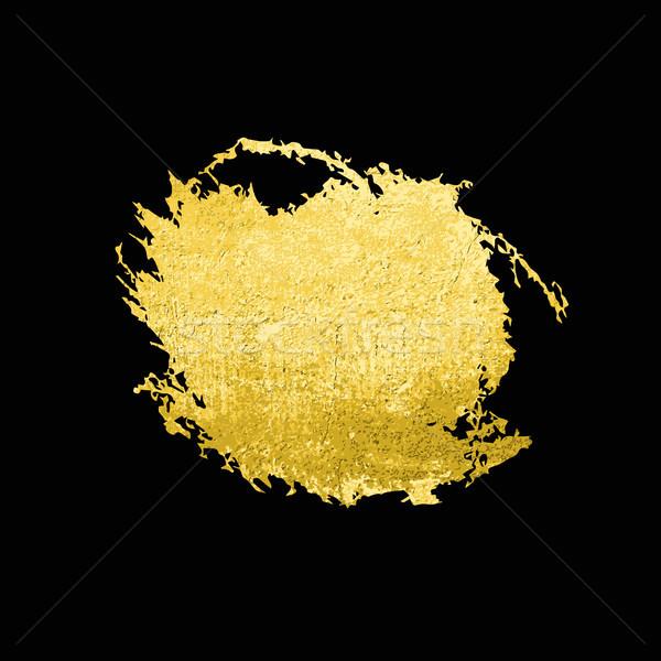 Altın doku fırçalamak vektör doku Stok fotoğraf © Mamziolzi