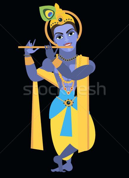vector lord Vishnu Krishna Stock photo © Mamziolzi