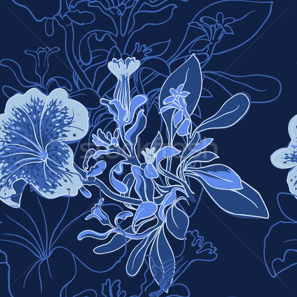 Stockfoto: Vector · naadloos · voorjaar · abstract · natuur