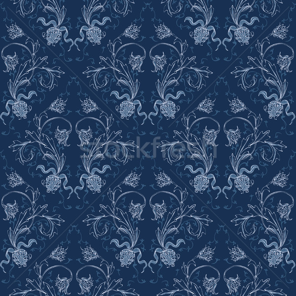 Elegance Seamless pattern with flowers ornament Stock photo © Mamziolzi
