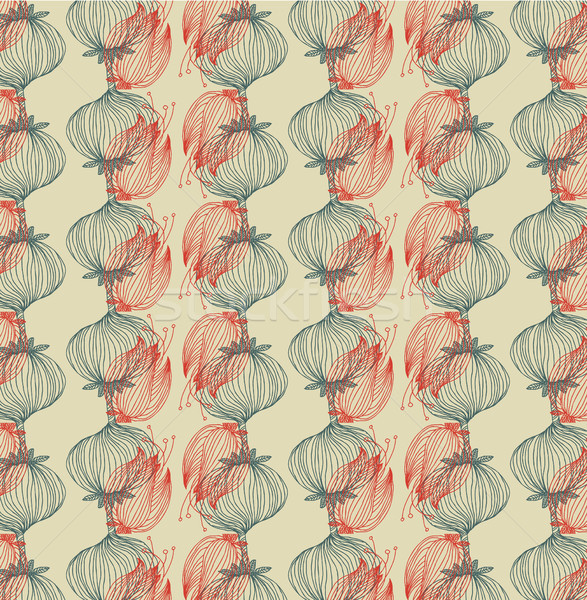 Vector floral background, pattern Stock photo © Mamziolzi