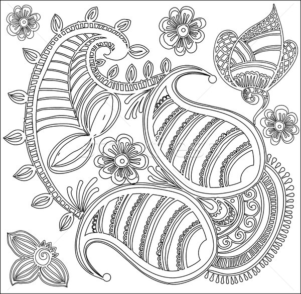Padrao Livro Para Colorir Criancas Abstrato Floral