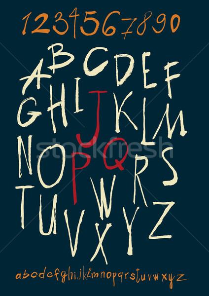 Alfabe sayılar vektör kâğıt Stok fotoğraf © Mamziolzi