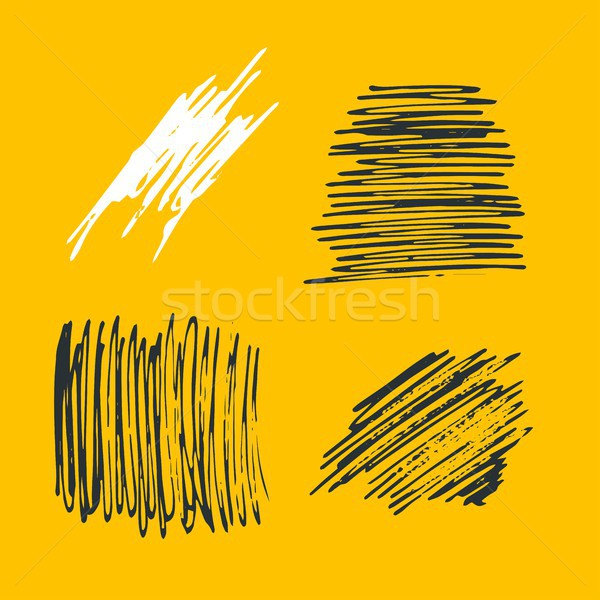 Grunge Ink pen Stroke set Stock photo © Mamziolzi