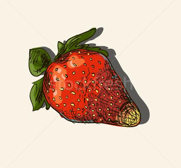 Vector illustration of strawberry Stock photo © Mamziolzi