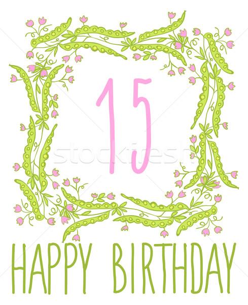 Feliz Cumpleaños Tarjeta Invitación Establecer