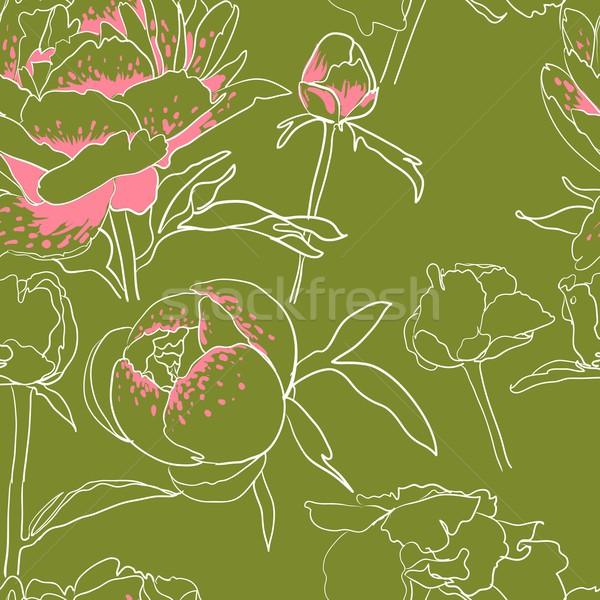 Foto d'archivio: Senza · soluzione · di · continuità · floreale · vettore · rosa · abstract · design