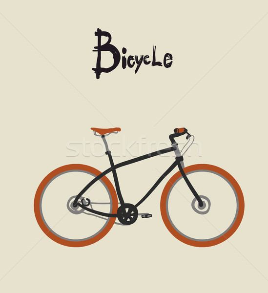 Vintage bicycle. Vector illustration. Stock photo © Mamziolzi