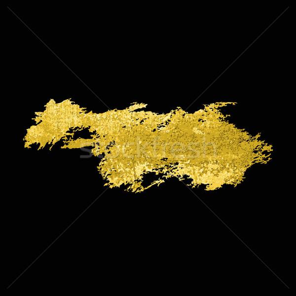 Altın doku fırçalamak vektör el Stok fotoğraf © Mamziolzi