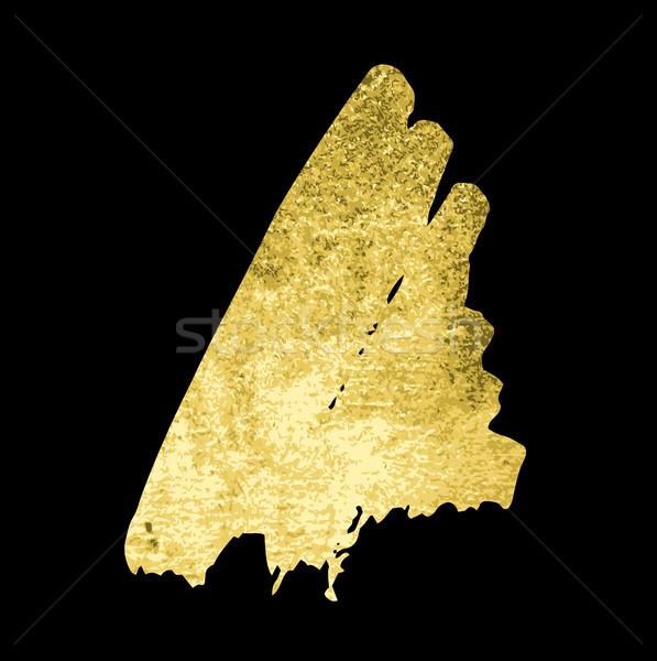 Tessitura oro pennello vettore mano Foto d'archivio © Mamziolzi