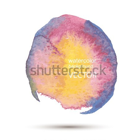 Abstract watercolor hand painted background set Stock photo © Mamziolzi