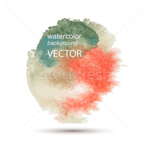 Abstract aquarel hand geschilderd vector Stockfoto © Mamziolzi