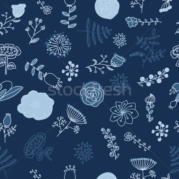 Elegance Seamless pattern with flowers Stock photo © Mamziolzi