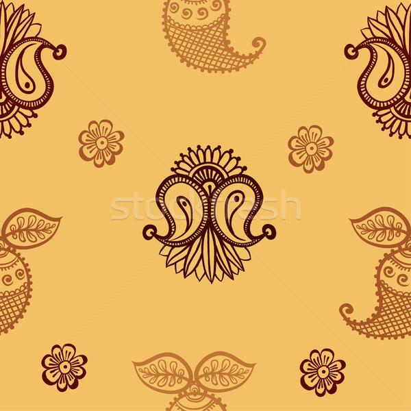 ethnic seamless pattern. Indian ornament, kaleidoscopic flora pattern, mandala. range Stock photo © Mamziolzi