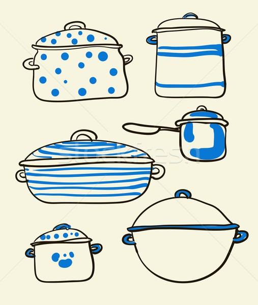 Cookware set Stock photo © Mamziolzi