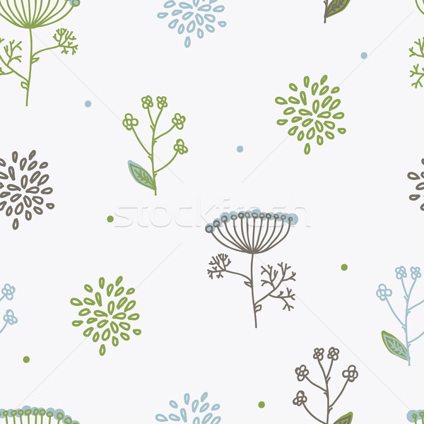 Elegance Seamless pattern with flowers, Ukraine, dill Stock photo © Mamziolzi