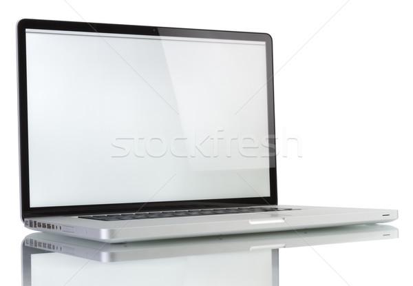 Laptop witte scherm geïsoleerd computer technologie Stockfoto © manaemedia