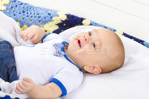 baby boy laughing Stock photo © manaemedia